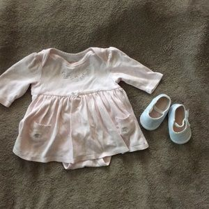 Girls dress and shoes